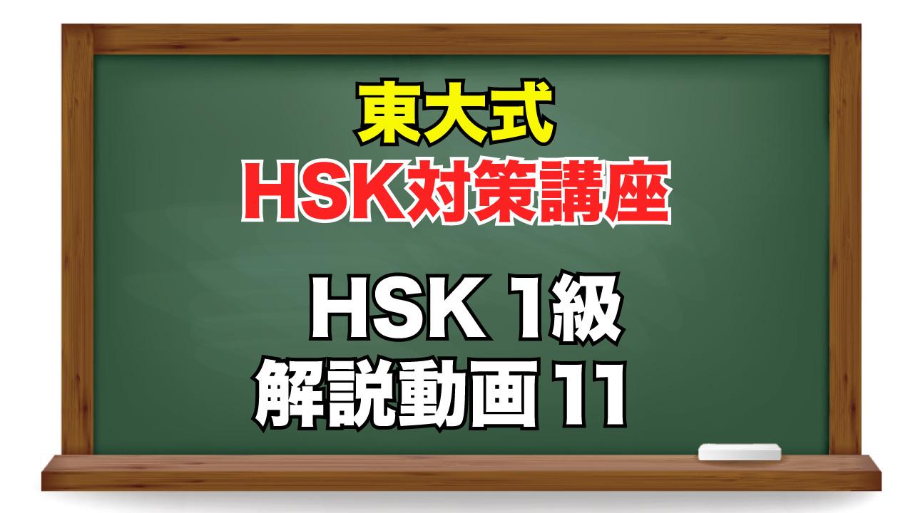 東大式HSK対策講座 1級-11