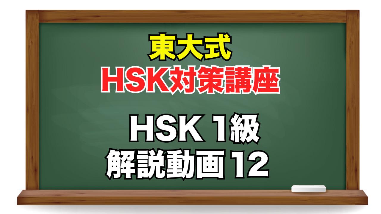 東大式HSK対策講座 1級-12